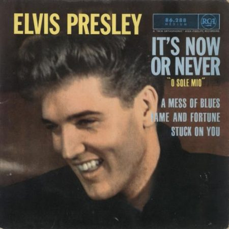 """Elvis Presley It's Now Or Never - 1st 1962 French 7"""" vinyl 86.288"""