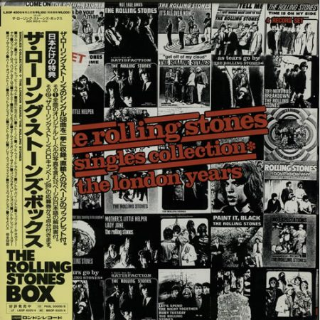 Rolling Stones Singles Collection - The London Years - Sealed 1989 Japanese vinyl box set L60P4501/4