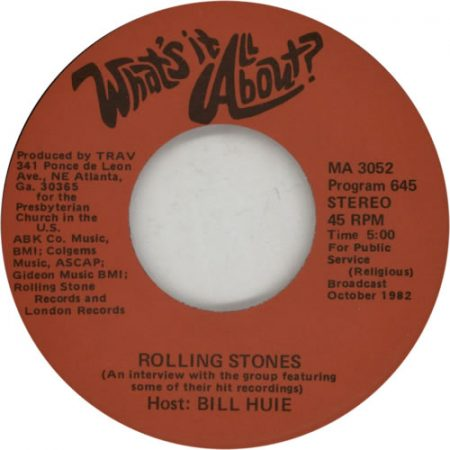 """Rolling Stones What's It All About? 1982 USA 7"""" vinyl MA3052"""
