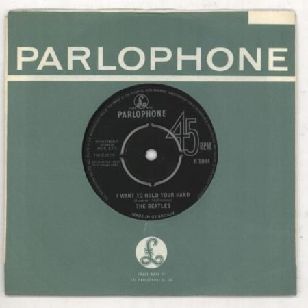 """The Beatles I Want To Hold Your Hand - 1st - EX 1963 UK 7"""" vinyl R5084"""